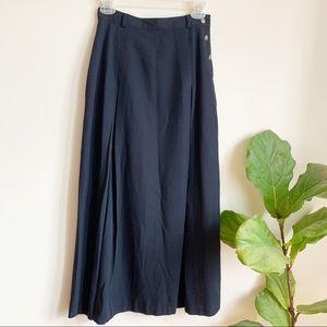 Vintage High Waisted Maxi Navy Blue Skirt 4